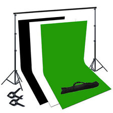 Photography 1.6x2m Black White Green Backdrops 2x2m Background Support Stand Kit
