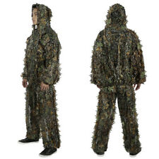 2PCS Camouflage Durable Outdoor Woodland Sniper ELOS-Polyester Ghillie Suit Kit