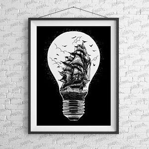 Sail Away Art Print-Tattoo-Alternative-Home-Rebels-Fashion-Moth-Studio-fashion