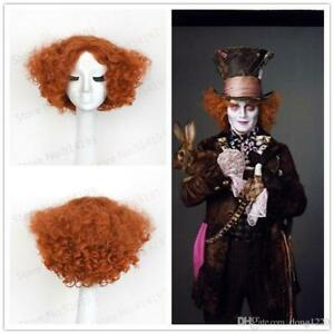 New Alice Electric Mad Hatter Halloween Wig Heat Resistant Synthetic Hair Wig
