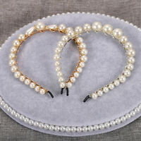 Women's Pearl Headband Princess Crown Hairband Hair Bands Accessories Costume