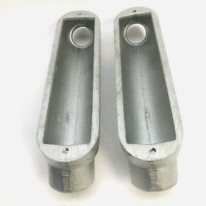 """LOT OF 2 CROUSE-HINDS 1-1/2"""" BUB5 CONDUIT OUTLET BODIES CONDULET SERIES"""