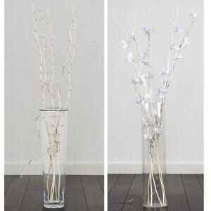 Decorative Fairy Lights Flower Design Twig Branch Home Modern Lighting Art