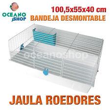 JAULA ROEDORES CON BANDEJA DESMONTABLE Y COMEDERO AZUL 100,5x55x40 cm L523 0100