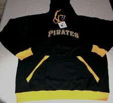 Pittsburgh Pirates Pullover Hoodie 3XL Black Embroidered Logo Majestic MLB