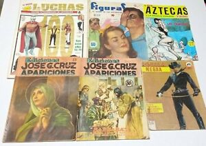 lot 6 magazines comics mexico Jose Cruz LUCHA LIBRE pulp