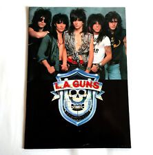L.A. Guns Japan Tour 1988 Concert Program Book Tracii Guns Philip Lewis