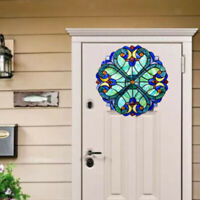 Vintage Style Multicolor Acrylic Stained Glass Window Panel Sun Catcher Gift