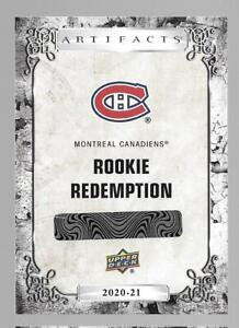 2020 20-21 UPPER DECK ARTIFACTS ROOKIE REDEMPTION MONTREAL CANADIENS