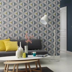 Scandinavian 2 Grey Multi 3D Flower Wallpaper Paste the Wall Floral 96042-2
