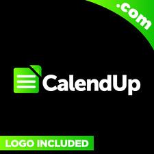 CalendUp.com is a cool brandable domain for sale! Godaddy PREMIUM + LOGO