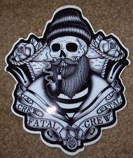 "FATAL Salty Captain 4 X 5"" STICKER skate skateboard helmet decal"