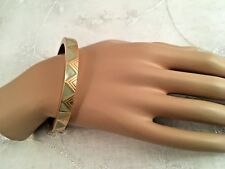 LIA SOPHIA BANGLE BRACELET GOLD TONE & MINT GREEN