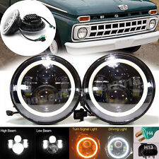 7'' inch Vintage Car LED Headlight H4 H13 Hi LoBeam For Ford F100 1969-1979 2Pcs