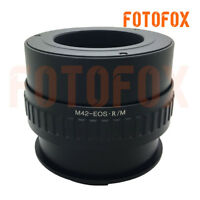 FOTOFOX adapter for M42 screw mount lens to Canon EOS R mount camera With Macro