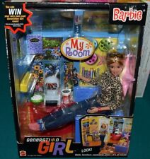 NIB-2000 GENERATION GIRL BARBIE DOLL- MY ROOM ACCESSORIES,FURNITURE, WOOL SOCKS