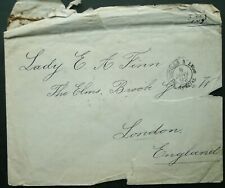 OTTOMAN TURKEY DECEMBER 1891 POSTAL COVER TO LONDON, ENGLAND - SEE!