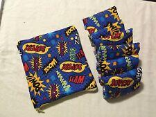 Set/6 Reusable Menstrual Pads W/ Matching Wet Bag NWOT Momma Cloth