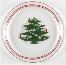 Glassware Dessert Salad Plate Christmas Tree by WAECHTERSBACH Gremany Set of 2