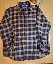 New listing Pendleton Wool Flannel Fireside Shirt single Pocket button down Men's Xl Vintage