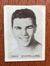 Max Schmeling Boxing Tobacco Card 1929 Tiedemanns Tobak Very Rare