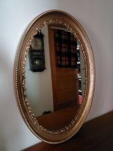 "Antique Oval Mirror Durwood John Walters & Sons - Edwardian Canada 27"" x 19"""