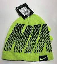 Nike Air Jordan Youth Boys 2-Piece Reversable Ski Cap Gloves Set, Lime, 8/20