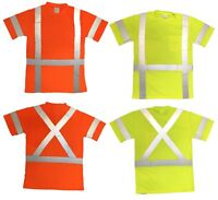 ANSI CLASS 3 Reflective safety t-shirt tee with pockets
