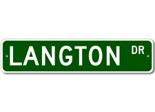 LANGTON Street Sign - Personalized Last Name Sign