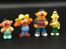 "Vintage JHP Sesame Street PVC Toy Figures Lot Of 4~2""3""~ Bert Ernie Baby Farmer"