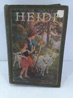 Heidi - Antique Rare HC Book - 1924 - Johanna Spyri