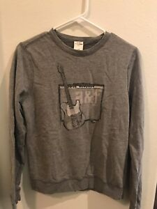 Abercrombie And Fitch New York Boys Youth  Sweatshirt Muscle Gray Size XL