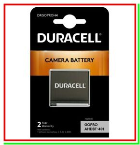 Batteria Pila Ricaricabile DURACELL DRGOPROH4 x Action Cam GoPro Hero4 AHDBT-401