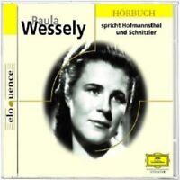 PAULA WESSELY - PAULA WESSELY SPRICHT HOFMANNSTHAL UND SCHNITZLER  CD NEU