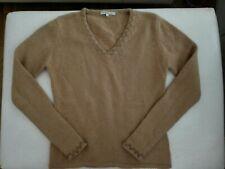 Allude hellbrauner  Pullover Gr M 38 40 aus 100% Kaschmir Cashmere m Webfehler