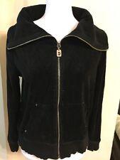 Michael Kors Black Velour FULL Zip Up JACKET -  Jogging/Track SIZE L