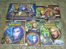 WORLD OF WARCRAFT BATTLE CHEST PC Mac Game DVD Guides WoW Burning Crusade Boxset