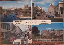 Irish Postcard CARLOW Town College Barrow Tullow Multiview Ireland Cardall 453