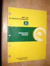 John Deere Amt 626 Operators Manual Owners Book All Material Transporter Guide