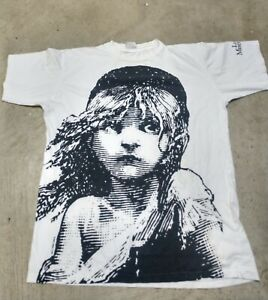 Vintage 1986 Les Miserables Shirt Size XL Big Print ALL PRINT - FREE SHIPPING