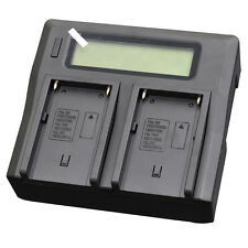 LCD Quick Battery Charger for Sony NP-QM91 NP-QM91D NP-QM71 NP-QM71D BC-VM10