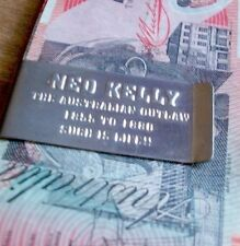 NED KELLY MONEY BANKNOTE COIN CLIP HOLDER AUSSIE AUSTRALIAN OUTLAW Such Is Life