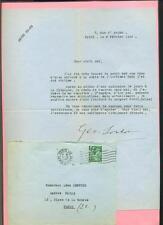 LETTRE AUTOGRAPHE SIGNEE Géo LONDON ECRIVAIN JOURNALISTE JUDICIAIRE 1940