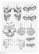 TRC8076 RC Body Paint Mask Ghost Skulls 1 R/C Hobby Air Brush