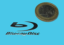 BLURAY DISC  METALISSED CHROME EFFECT STICKER LOGO AUFKLEBER 30x14mm [217]