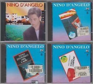 Lotto 4 CD NINO D'ANGELO A nu passo.../Nu jeans.../Sotto e stelle/Forza campione