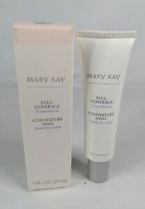 NOS Mary Kay Ful l- Coverage Foundation Beige 305 W/Box 366900 with Gray Cap