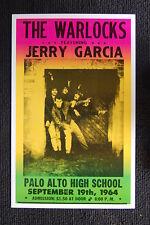 The Warlocks 1964 Poster Palo Alto High Jerry Garcia