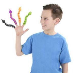 "5.5"" FINGER SNAKE Wiggly Finger Puppets - 4 Piece Bundle Set ( CLOSEOUT )"