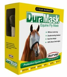 Duramask Horse Fly Mask Protective Equine Care Open Ears Durvet